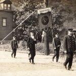 Sharpsburg firemen in a parade