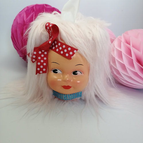 Kitsch Pink Doll Tissue Box Cover