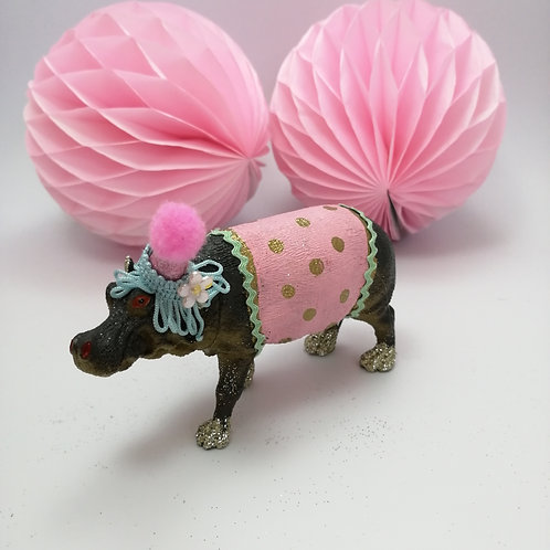 Kitsch  Animal cake topper - Hippo