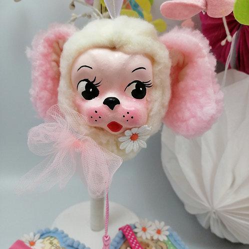 Kitsch Easter Hanging Vintagestyle dog Bauble