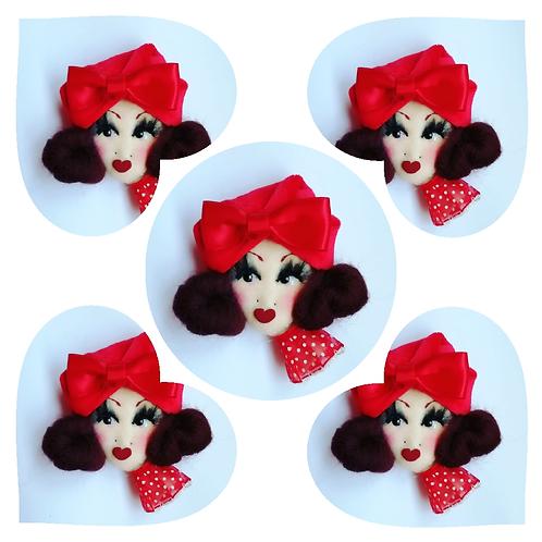 'Be my Valentine' Doll Corsage/Brooch