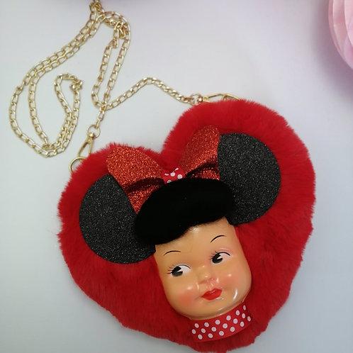 Disney Style Minnie Mouse Heart Handbag