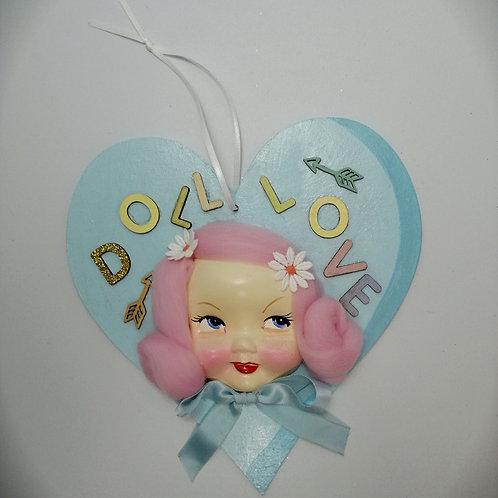 Kitsch Wooden Valentine Decoration Handmade