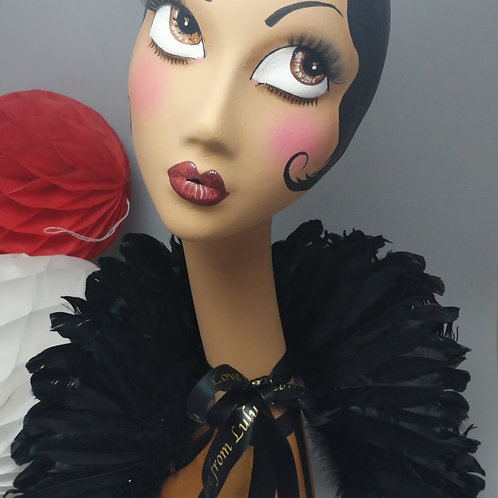 'LULU' Handpainted Female Swan Neck Mannequin Head