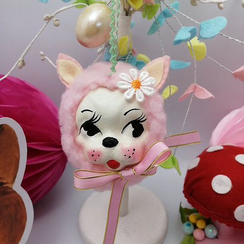 Kitsch Pink Vintage style Hanging Bauble