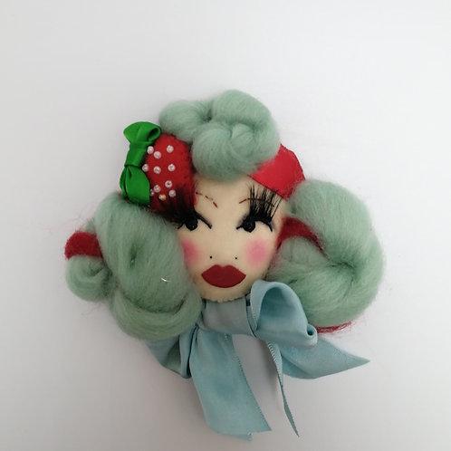 'Strawberry Cupcake' Doll Brooch / Corsage