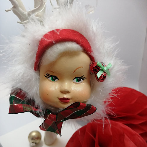 Kitsch Doll Face Christmas Tree Bauble