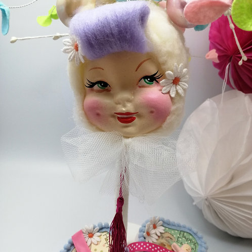 Kitsch Easter  Hanging Doll Bauble