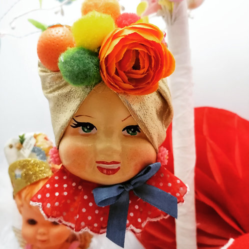 Kitsch Carmen Miranda Hanging Doll Ornament