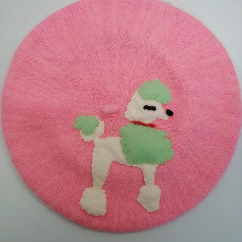 New Pink Poodle Beret