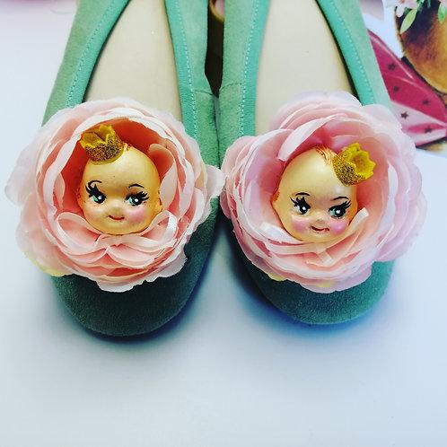 Quirky Kitsch Kewpie Shoe Clips