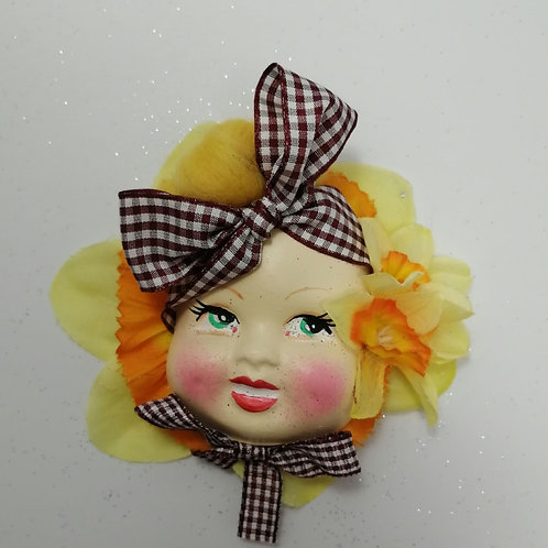 Spring Flower  Doll Brooch