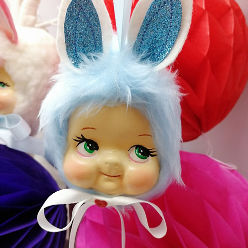 Kitsch Easter Bunny Hanging Doll Ornament