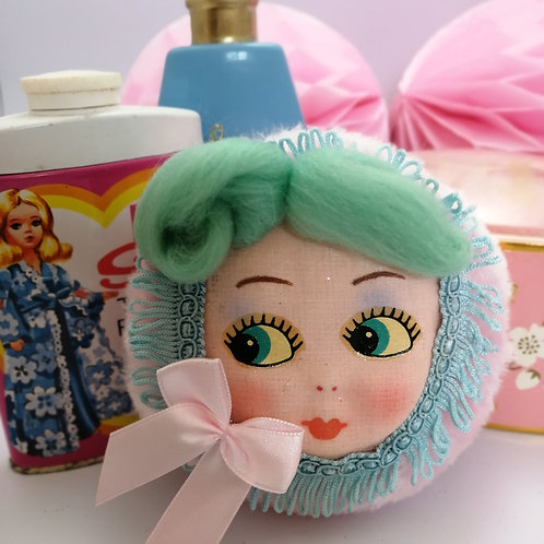 Beautiful Vintage style Doll Powderpuff