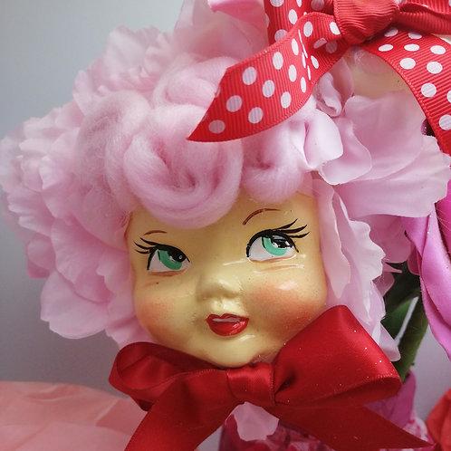 Large Kitsch Pink Flower Baby