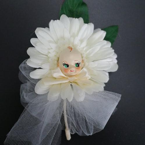 Kitsch Kewpie White Wedding Flower Corsage