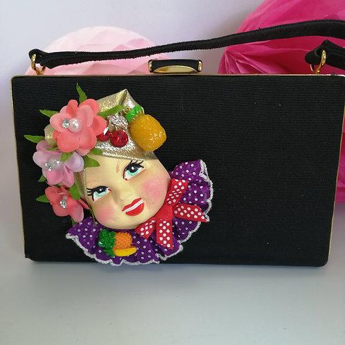 Preloved 50's HandBag with Carmen Miranda decoration