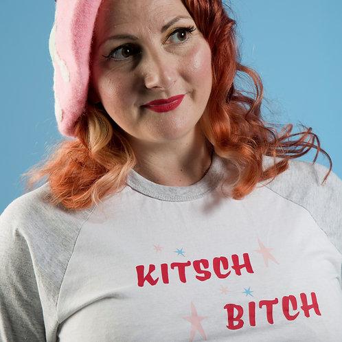 Kitsch Bitch T-Shirt Pin Up Rockabilly