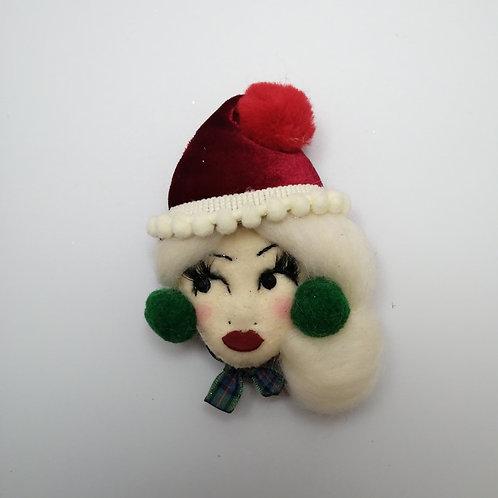 Winter Doll Brooch / Corsage