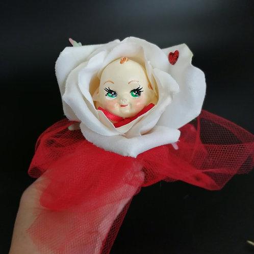 Kitsch Peek-a-boo Kewpie Wedding Flower Corsage