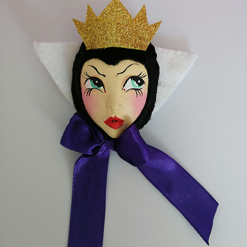 Disney Style Evil Queen  Doll Brooch