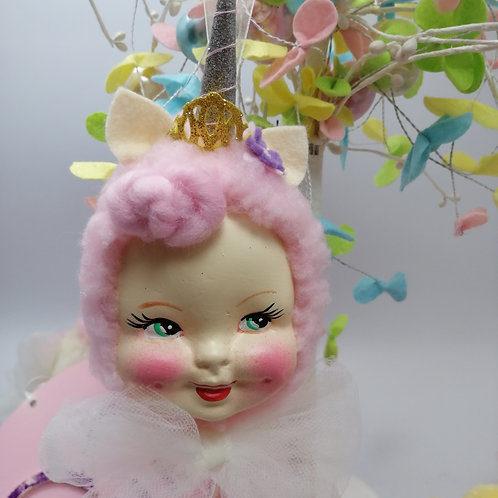 Kitsch Unicorn  Hanging Doll decoration