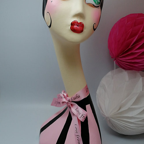 LULU Handpainted Female Swan Neck Mannequin Head