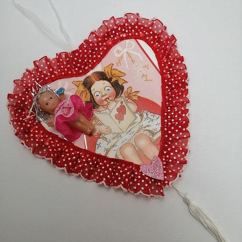 Kitsch Kewpie Valentine decoration handmade
