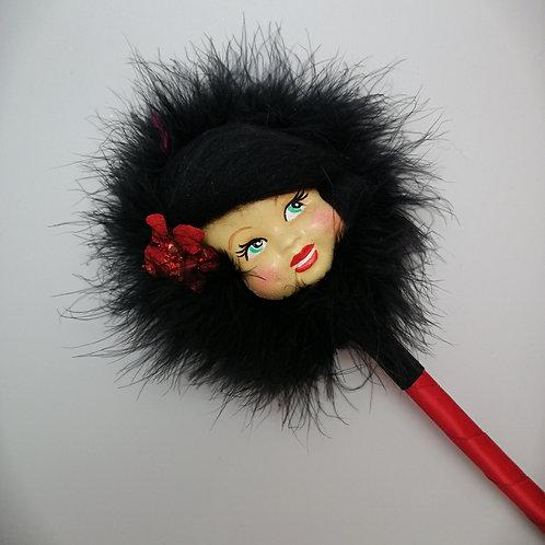 Kitsch Valentine Gift  powderpuff wand