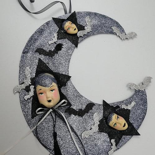 Handmade Glitter Moon Face