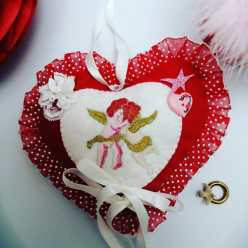 Wedding /Valentine heart shaped Ring Cushion