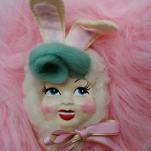 Vintage style Bunny  Doll Brooch