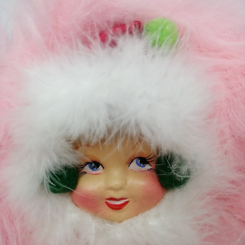 Christmas / winter Doll Brooch Corsage