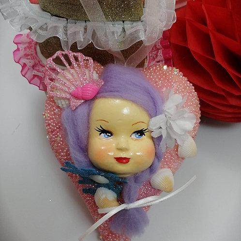 Large Kitsch Heart Mermaid  Baby