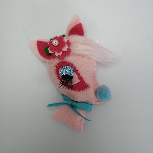 Pink Kitsch Bambi Brooch