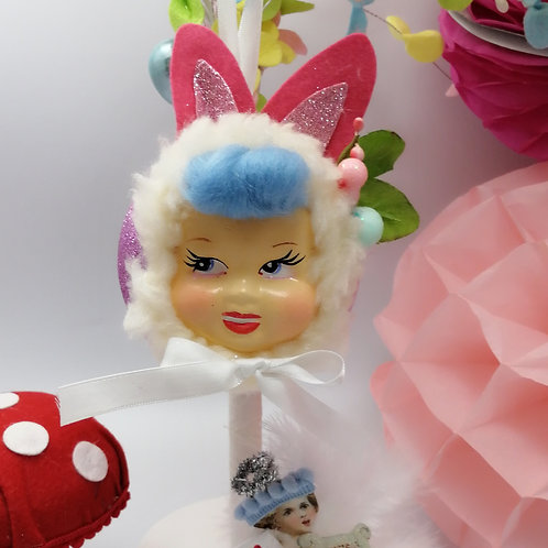 Kitsch Easter Bunny Hanging Doll Bauble