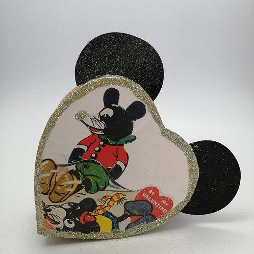 Kitsch Vintage Style Disney Mickey Mouse Gift Box