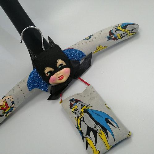 Superhero Batwoman doll coat hanger  Hanger