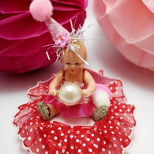 Vintage Doll Kitsch Display /Ornament