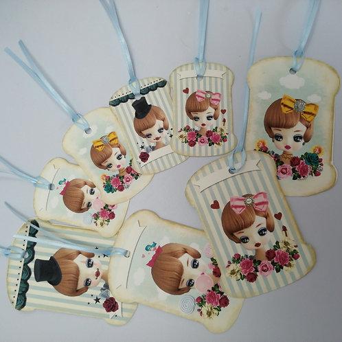 Kitsch Bradley Doll Gift Tags x 8