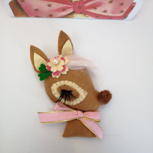 Brown Kitsch Bambi Brooch