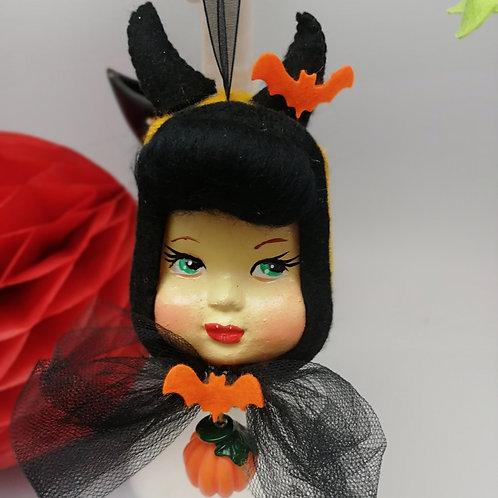 Little Miss Pumpkin Hanging Ornament