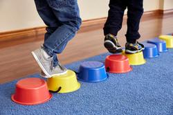 balance blocks feet