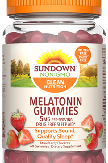 Sundown Melatonin 5mg Gummies 60ct