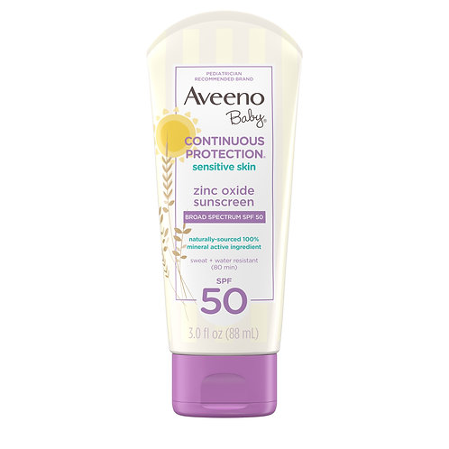 Aveeno Baby Continuous Protection Zinc Oxide Mineral Sunscreen