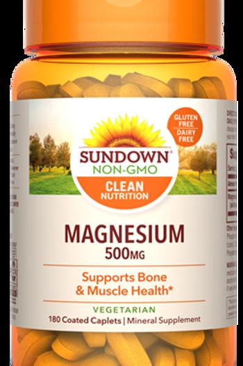 Sundown Magnesium 500mg Coated Caplets 180ct