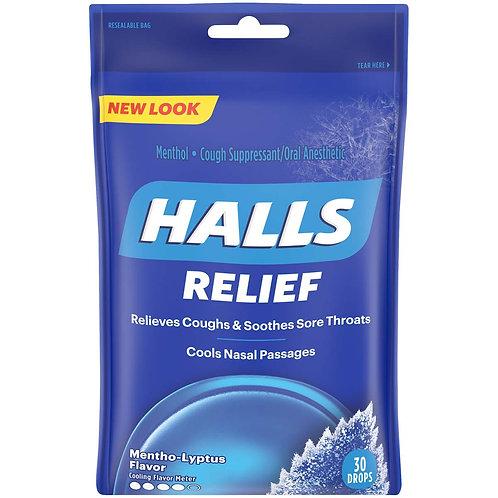 Halls Relief Mentho-Lyptus Drops - 30 drops