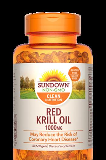 Sundown Red Krill Oil 1000mg Softgels 60ct