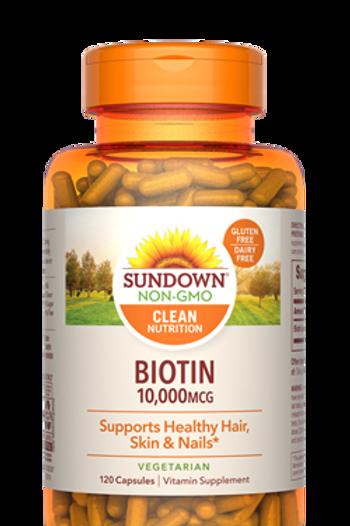 Sundown Biotin 10,000 mcg Capsules 120ct