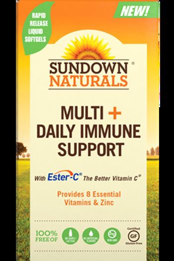 Sundown Multivitamin + Daily Immune Support Softgels 60ct